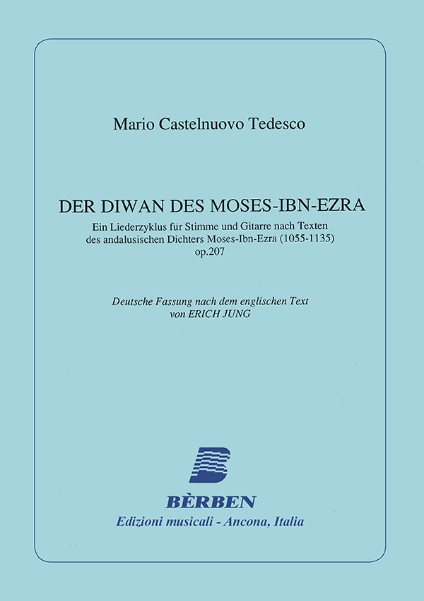 The Divan of Moses-Ibn-Ezra - testo tedesco