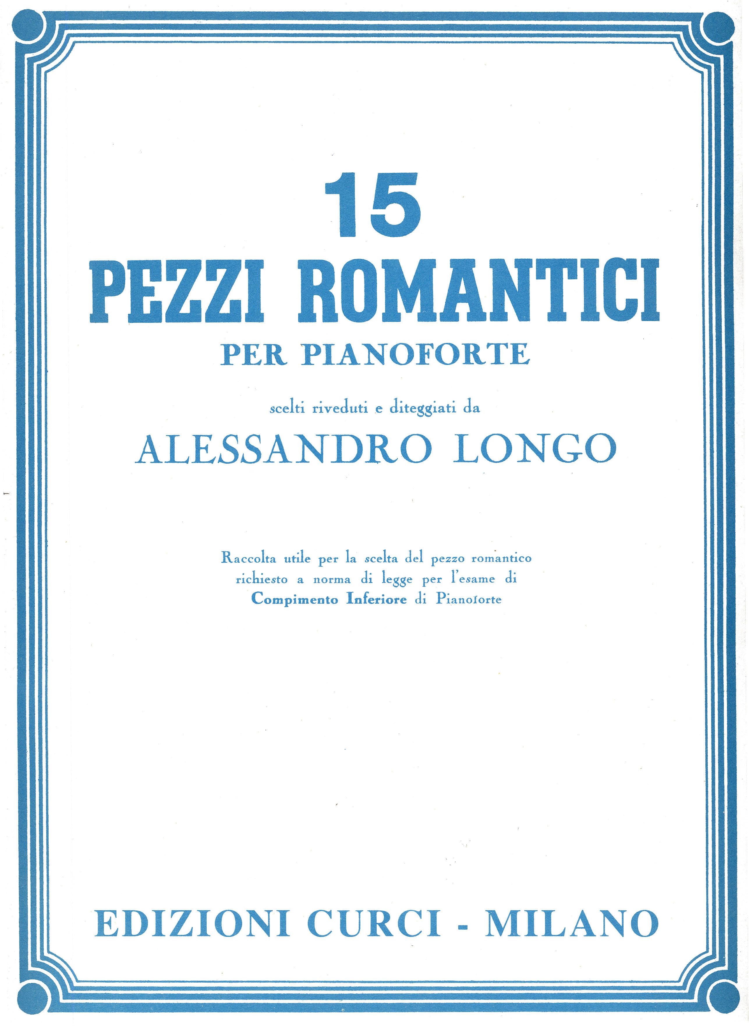 15 pezzi romantici edizioni curci catalogo for Soggiorni romantici per due