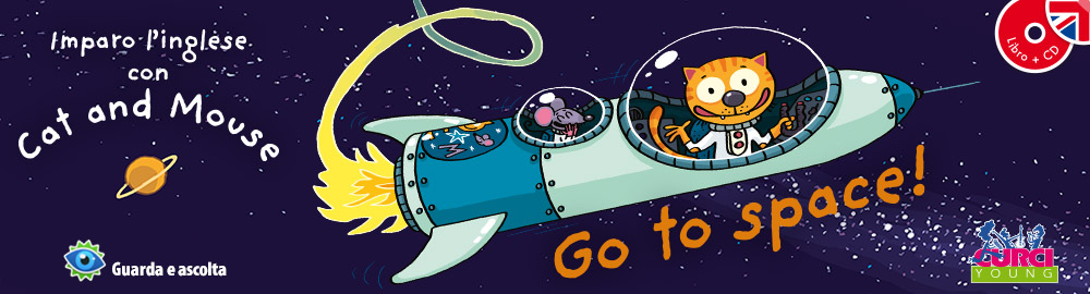 Imparo l'inglese con Cat an Mouse - Go to space!